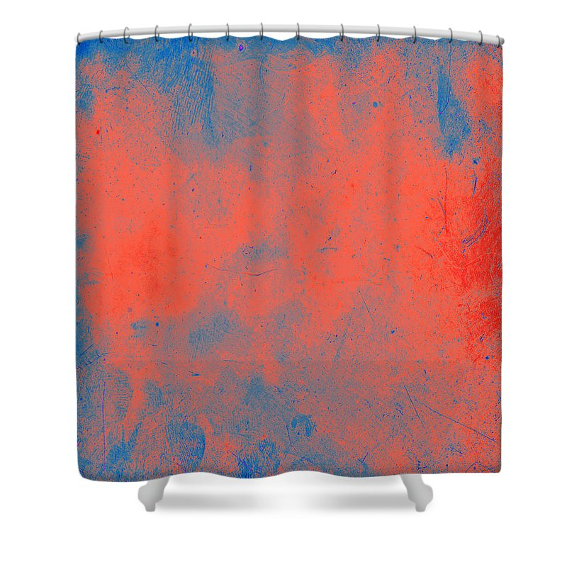 Orange Shower Curtain featuring the painting Orange Obsession by Julie Niemela