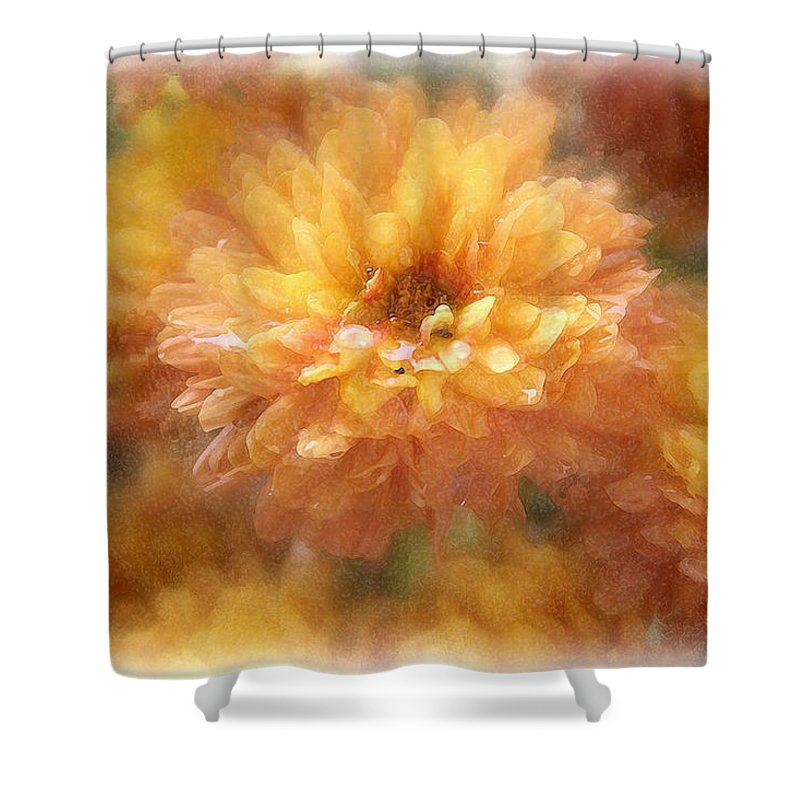 Flowers Shower Curtain featuring the photograph Orange Passion by Linda Sannuti