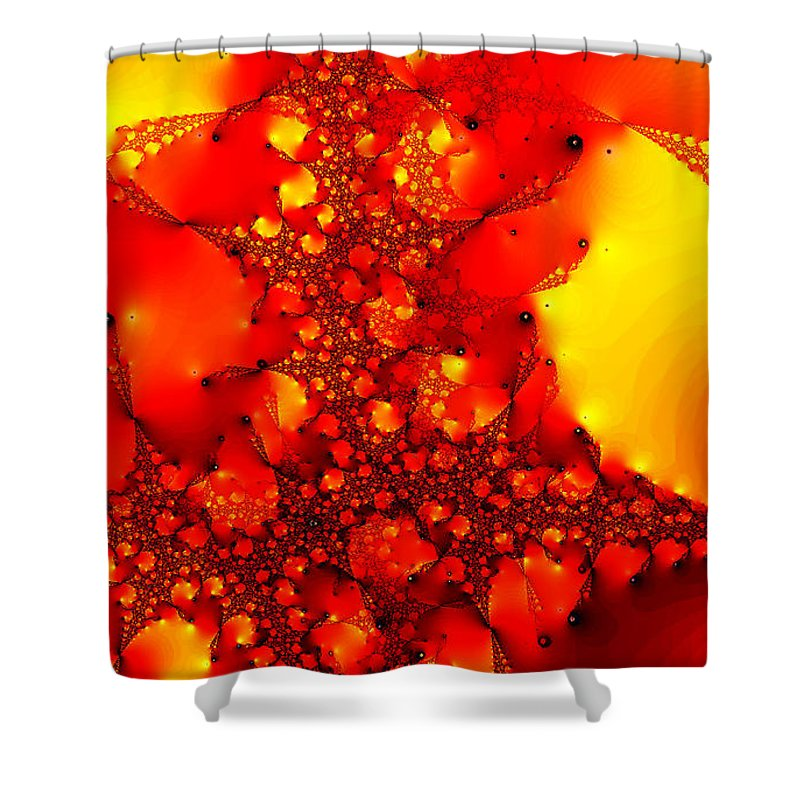 Clay Shower Curtain featuring the digital art Orange Peel by Clayton Bruster
