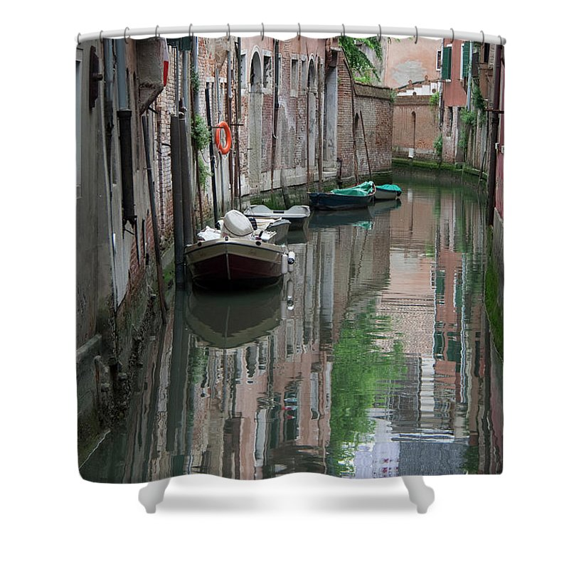 Venice Shower Curtain featuring the photograph Orange Ring by Darryl Patrick