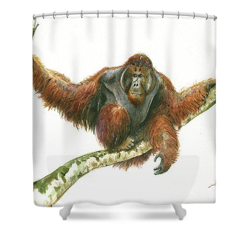 Orangutan Shower Curtains