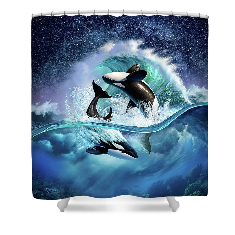Orca Wave Shower Curtain For Sale By Jerry LoFaro