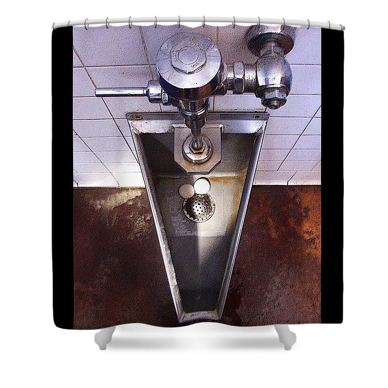 Urinal Shower Curtain featuring the photograph Orcas Island Urinal by Tim Nyberg
