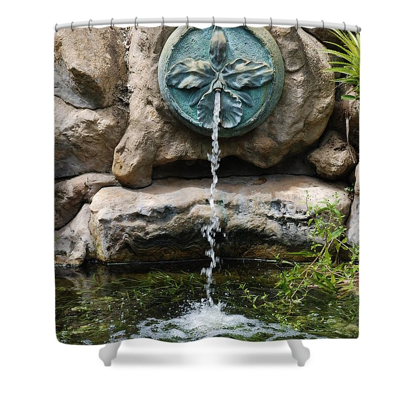 Orchid Shower Curtain featuring the photograph Orchid Fountian by Rob Hans