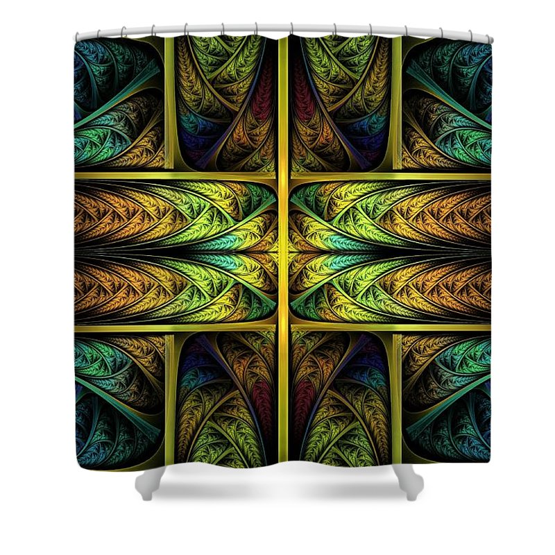 Apophysis Shower Curtain featuring the digital art Order Out Of Chaos by Lyle Hatch