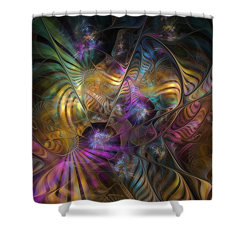 Graffiti Shower Curtain featuring the digital art Ordinary Instances by NirvanaBlues
