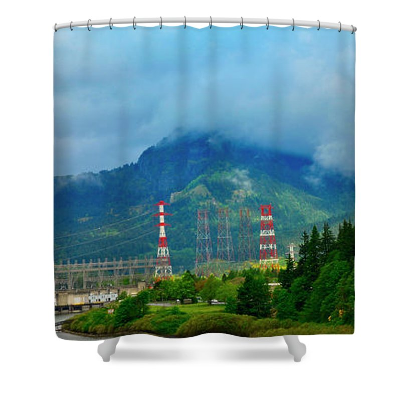 Oregon Shower Curtain featuring the photograph Oregon Columbia River - River View by Image Takers Photography LLC - Carol Haddon and Laura Morgan