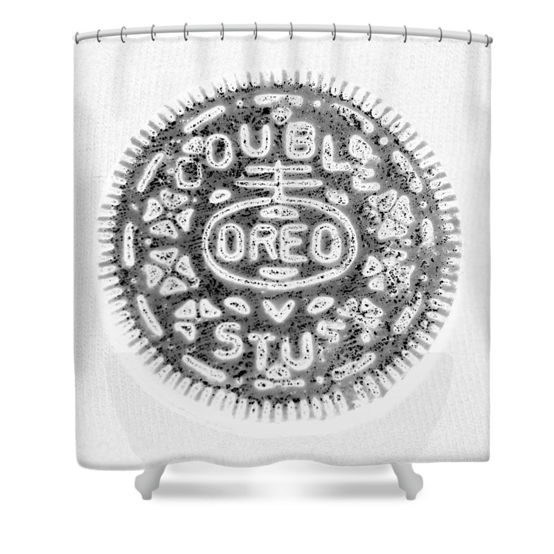 Oreo Shower Curtain featuring the photograph Oreo In Negetive by Rob Hans