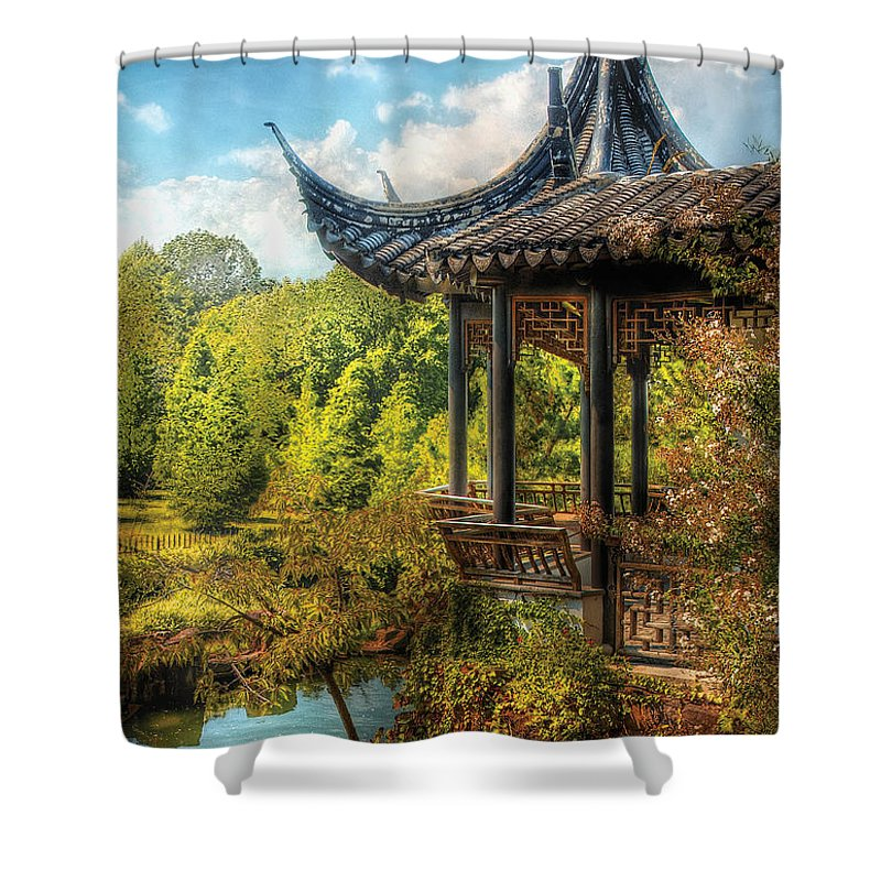 Savad Shower Curtain featuring the photograph Orient - From A Chinese Fairytale by Mike Savad
