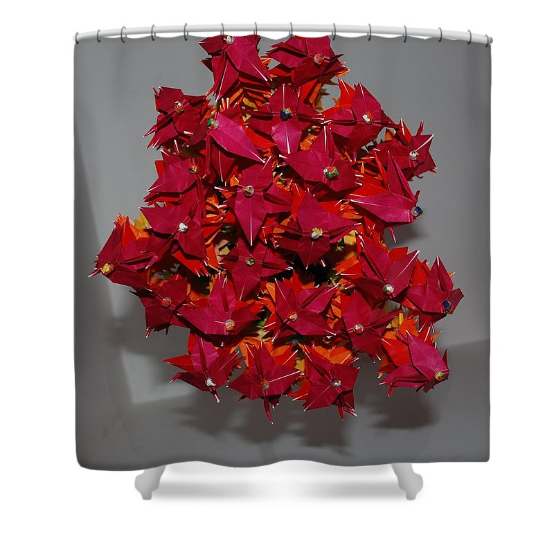 Origami Shower Curtain featuring the photograph Origami Flowers by Rob Hans