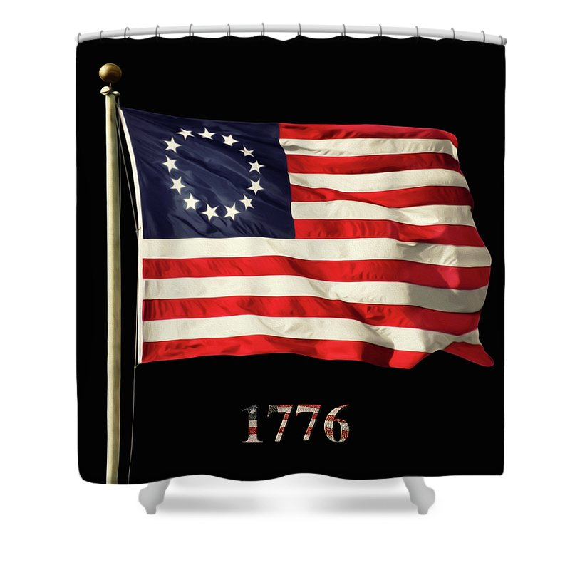 Original American Flag Shower Curtain for Sale by Steven Michael