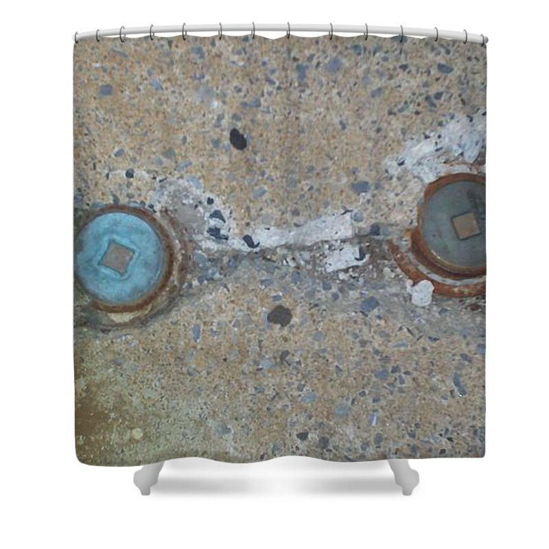 Photograph Shower Curtain featuring the photograph Original Damaged Pipes by Thomas Valentine