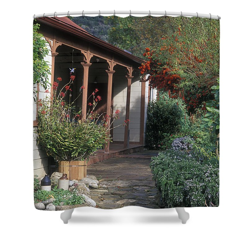 Porches Shower Curtain featuring the photograph Original Ortega Adobe, Built In 1842 by Rich Reid