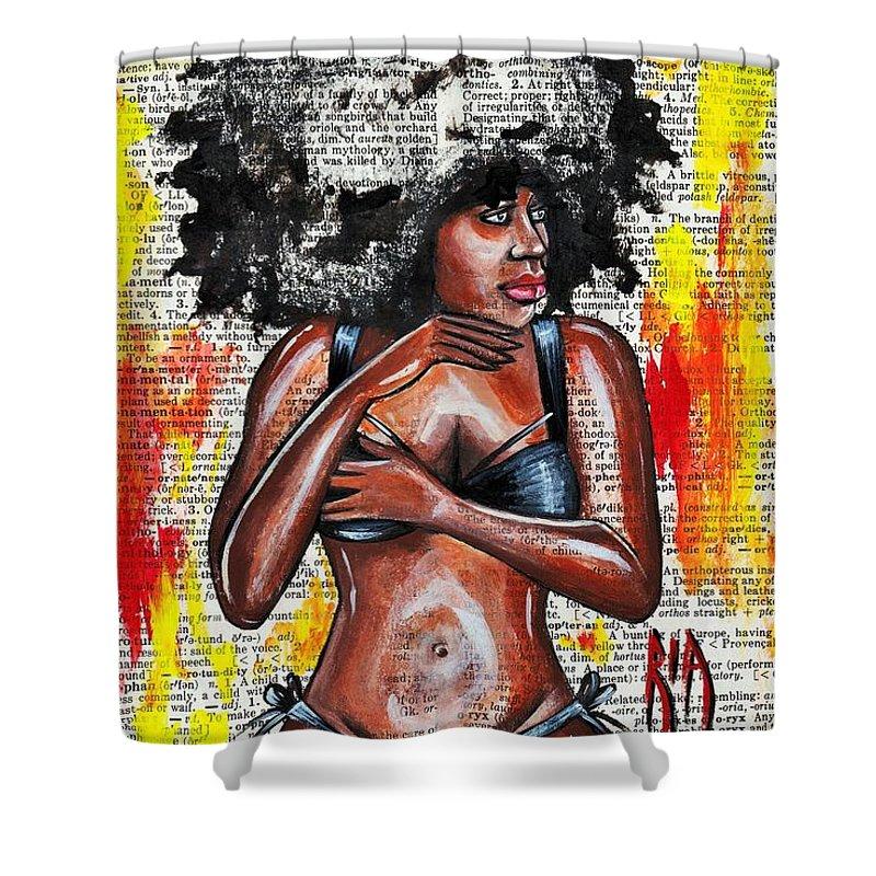 Bikini Shower Curtain featuring the drawing Originality by Artist RiA