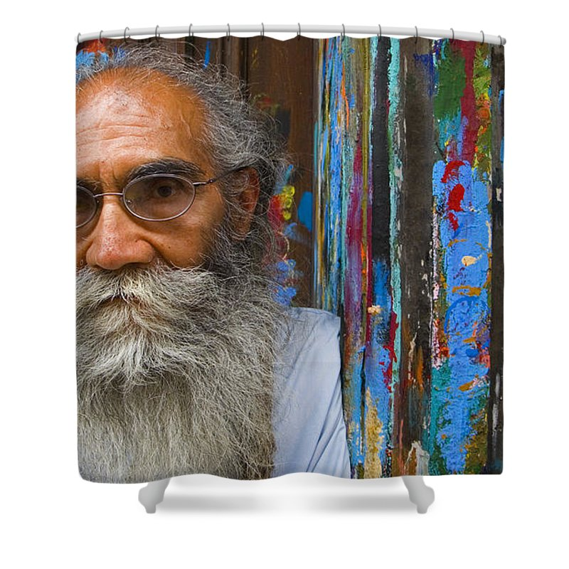 Architecture Shower Curtain featuring the photograph Orizaba Painter by Skip Hunt