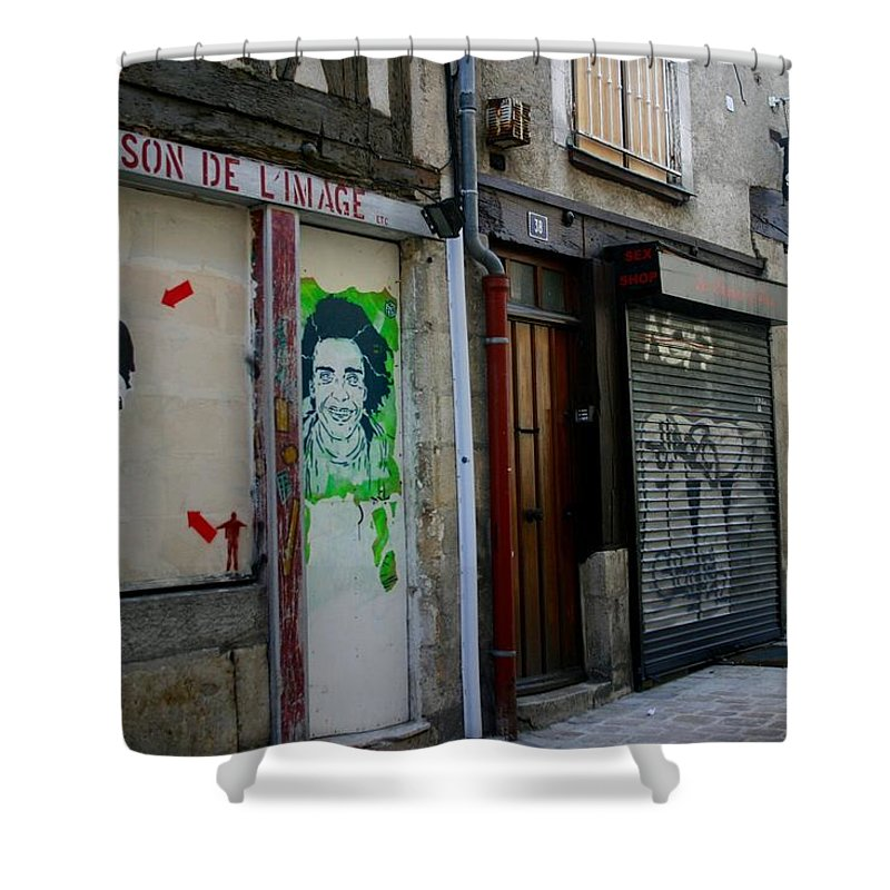 Alley Shower Curtain featuring the photograph Orleans France Alley by Minaz Jantz
