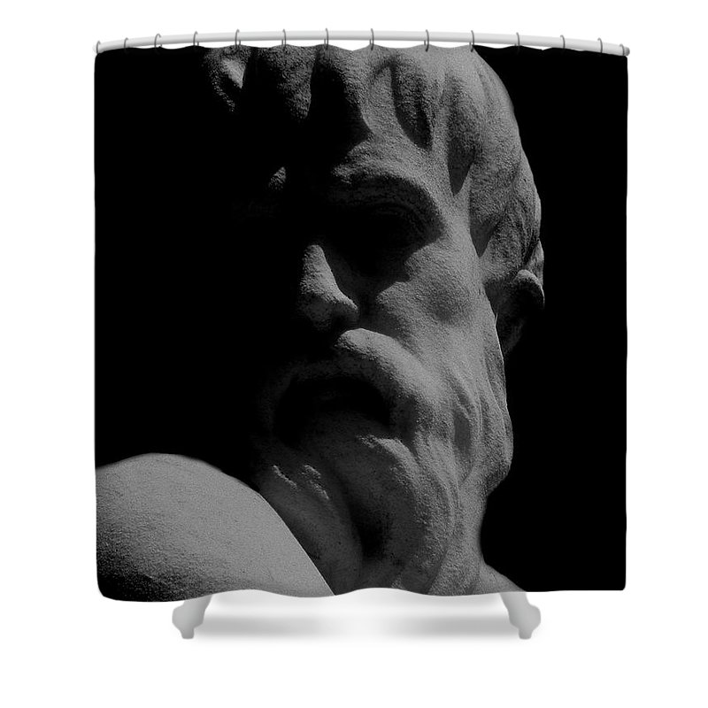 Black And White Shower Curtain featuring the photograph Orpheus Looks Back by RC DeWinter