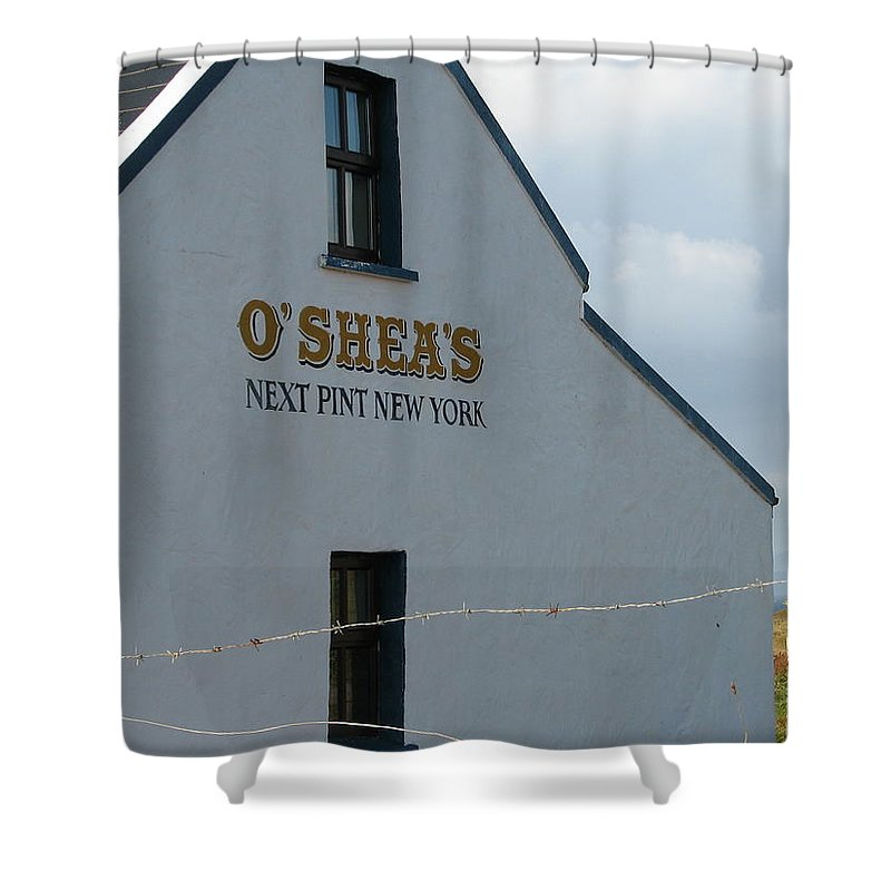 Pub Shower Curtain featuring the photograph O'shea's by Kelly Mezzapelle