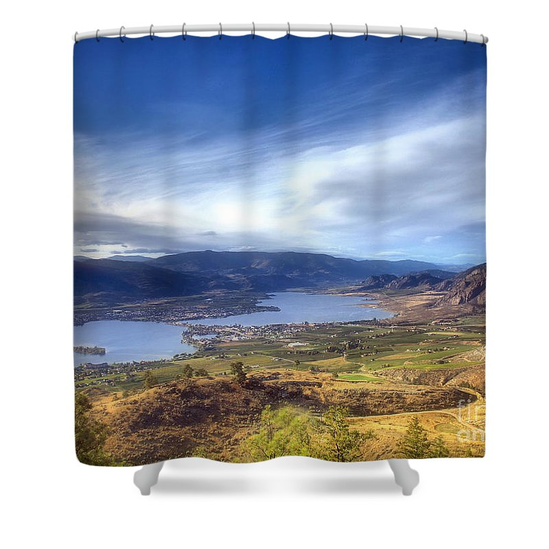 Osoyoos Shower Curtain featuring the photograph Osoyoos Lake by Tara Turner