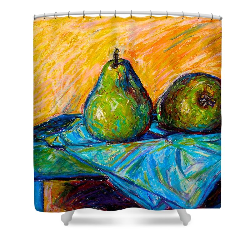 Still Life Shower Curtain featuring the painting Other Pears by Kendall Kessler