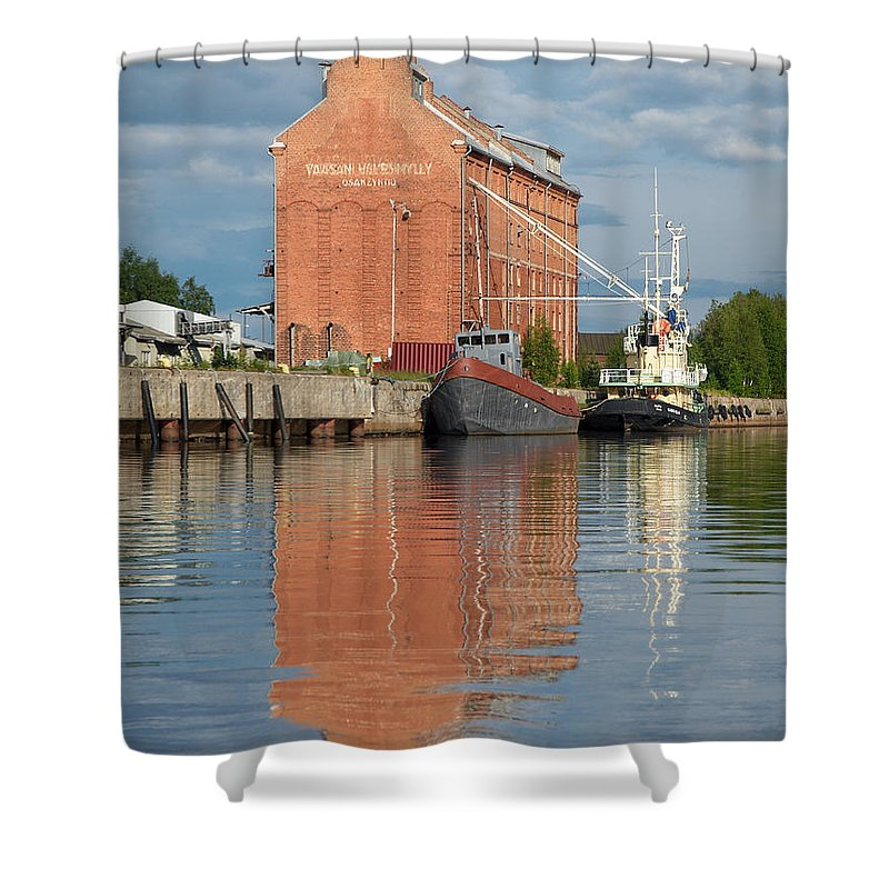Oulu Shower Curtain featuring the photograph Oulu From The Sea 3 by Jouko Lehto
