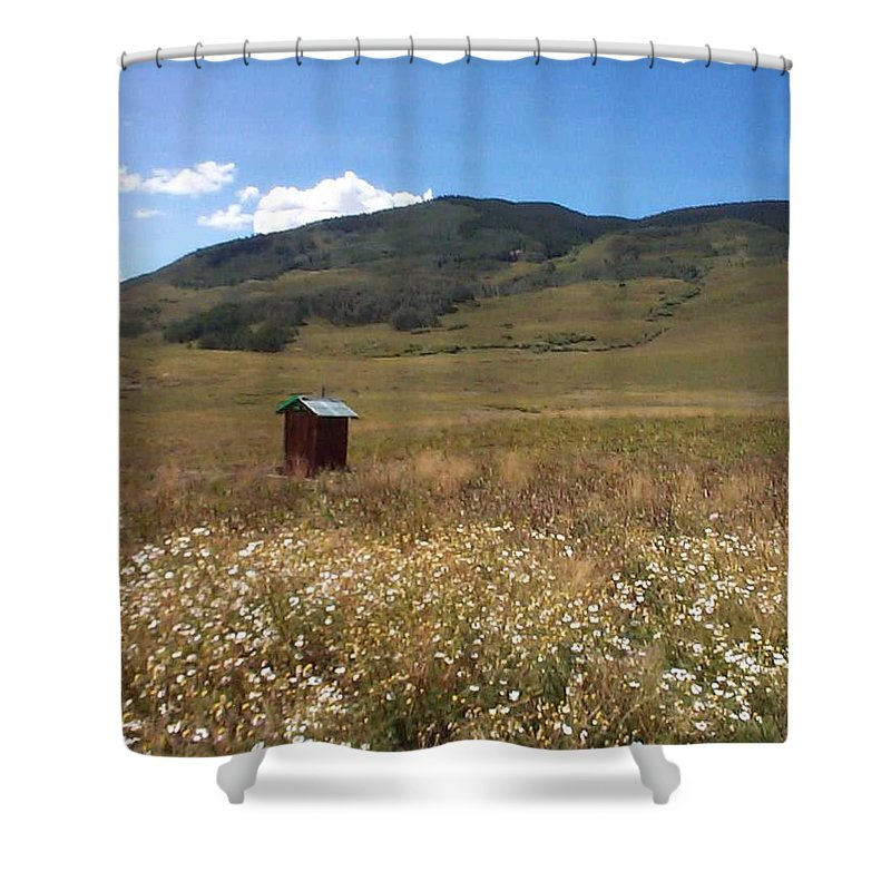 Charity Shower Curtain featuring the photograph Out House by Mary-Lee Sanders