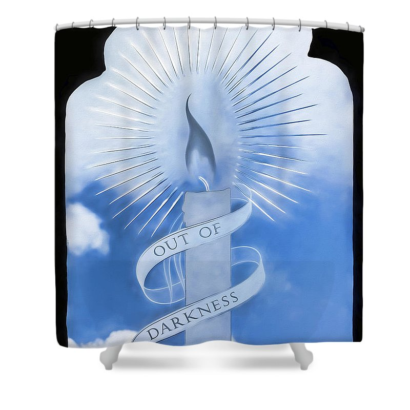 Glass Shower Curtain featuring the photograph Out Of Darkness - Impressions by Susie Peek
