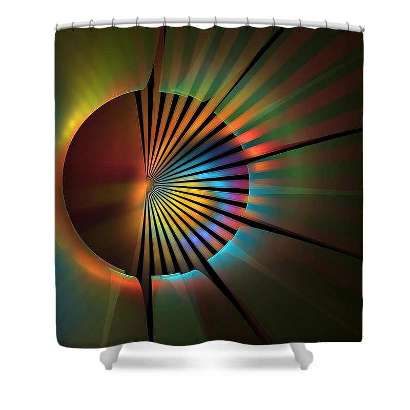 Apophysis Shower Curtain featuring the digital art Out Of The Corner Of My Eye by Lyle Hatch