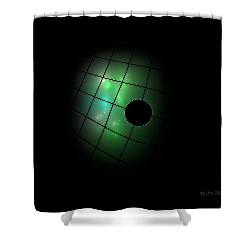 Dark Shower Curtain featuring the digital art Out Of The Dark by Steve K