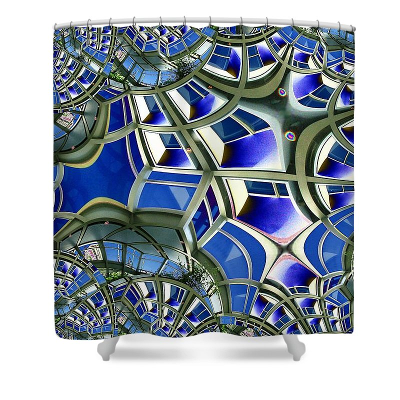 Windows Shower Curtain featuring the photograph Out The Looking Glass by Tim Allen