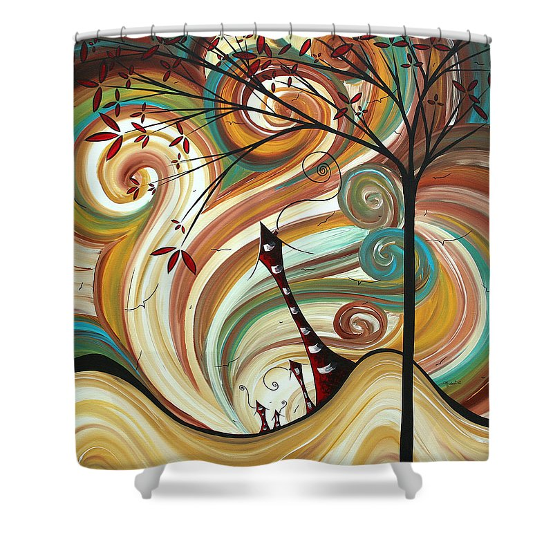 Wall Shower Curtain featuring the painting Out West II By Madart by Megan Duncanson