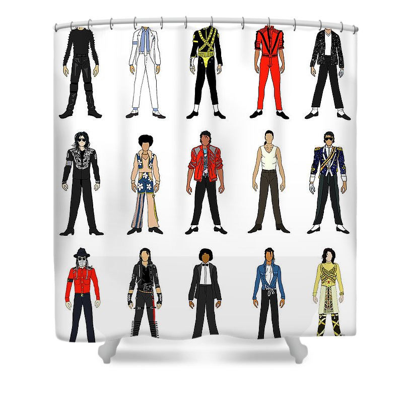 Outfits Of Michael Jackson Shower Curtain for Sale by Notsniw Art
