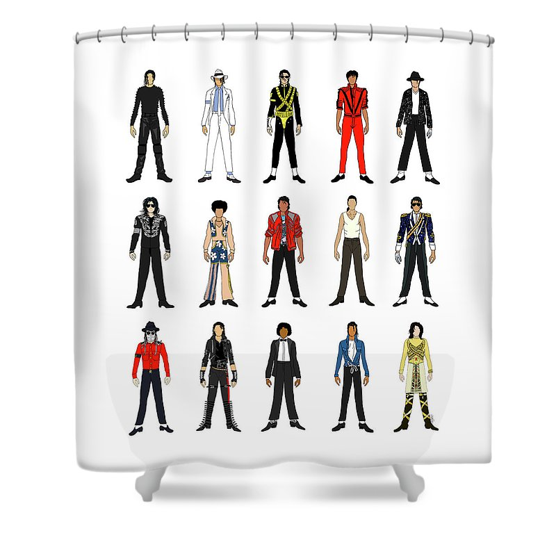 Michael Jackson King Of Pop Shower Curtains