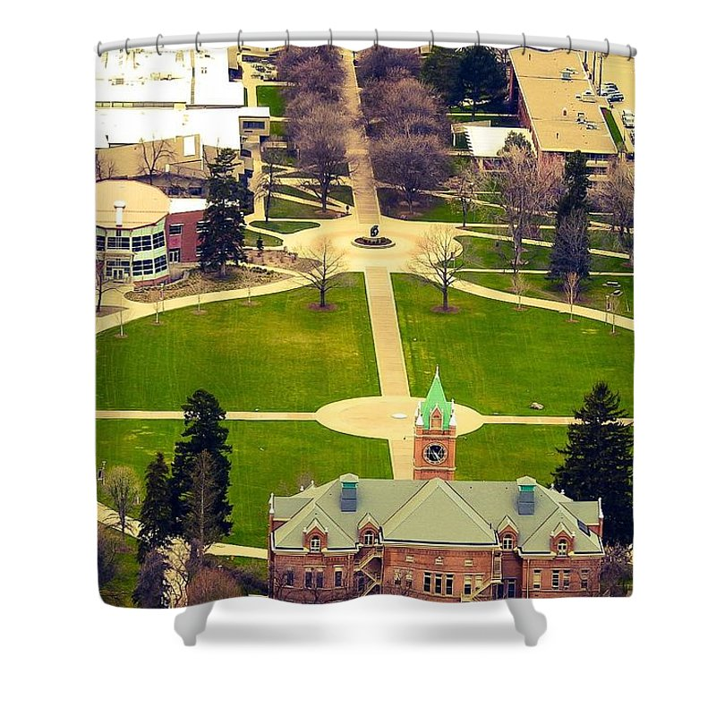 Shower Curtain featuring the photograph Oval At University Of Montana by Dan Hassett