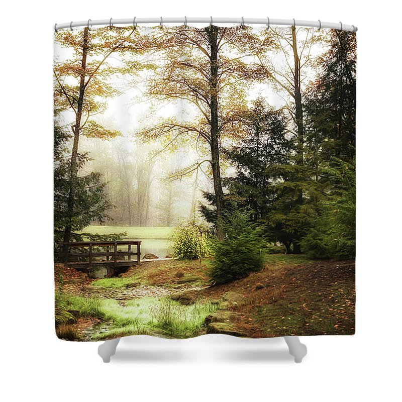 Autumn Shower Curtain featuring the photograph Over the River by Tom Mc Nemar