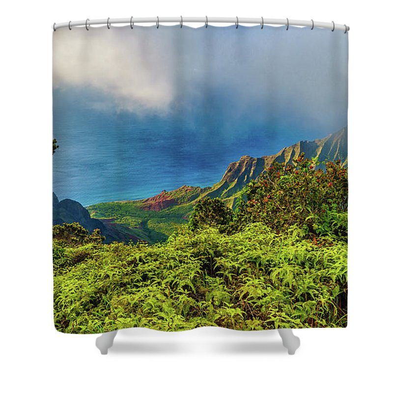 David Kulp Shower Curtain featuring the photograph Overlook by David Kulp