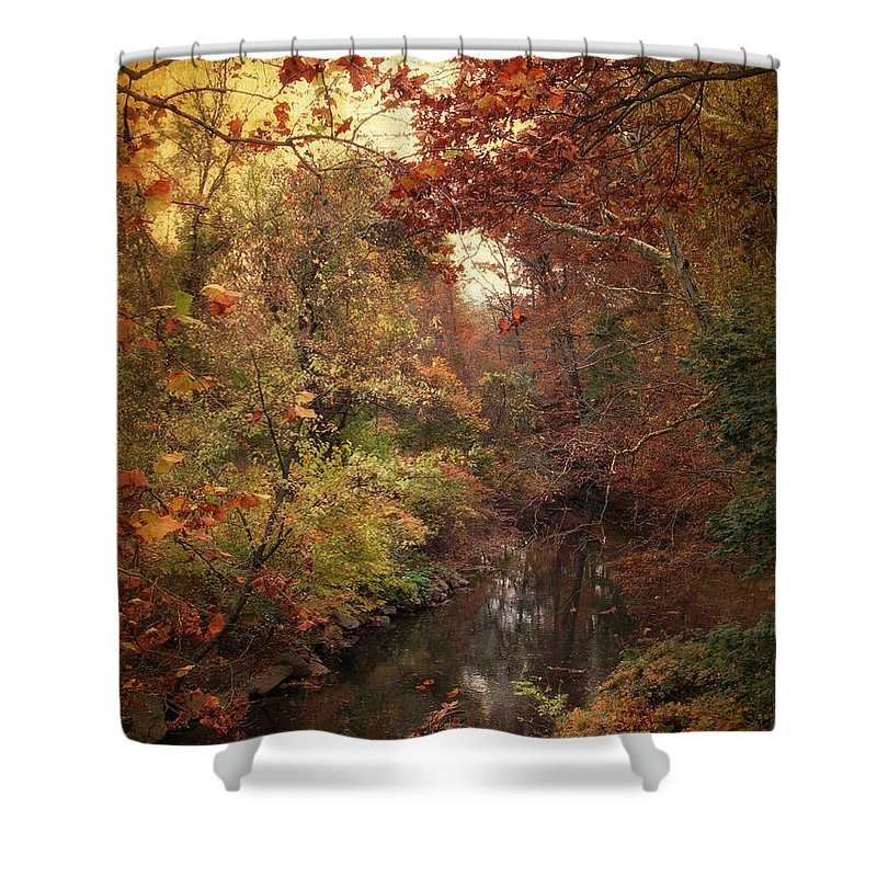 Autumn Shower Curtain featuring the photograph Overlook by Jessica Jenney