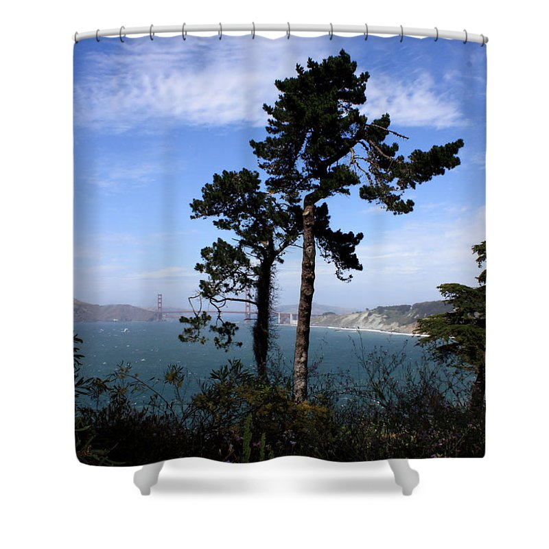 San Francisco Bay Shower Curtain featuring the photograph Overlooking The Bay by Carol Groenen