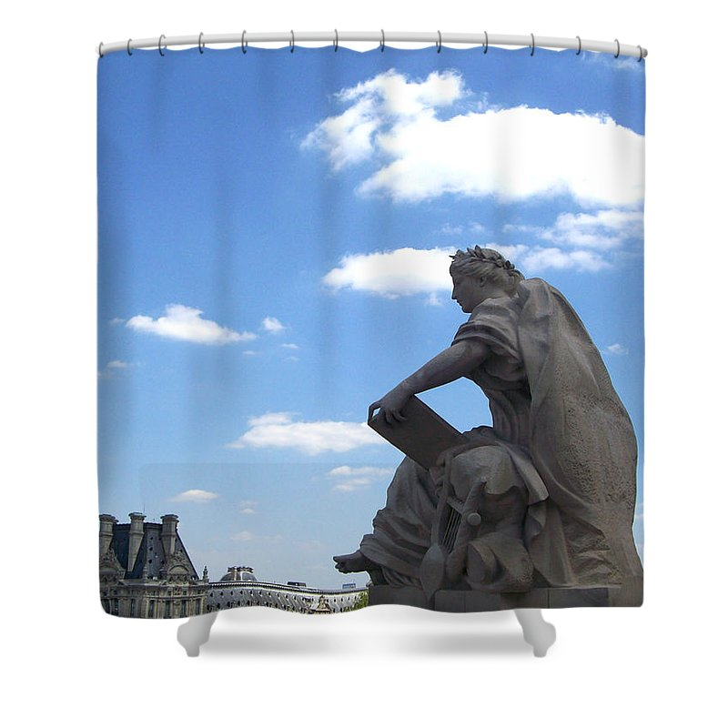 Grand Shower Curtain featuring the photograph Overseer by Mary Mikawoz