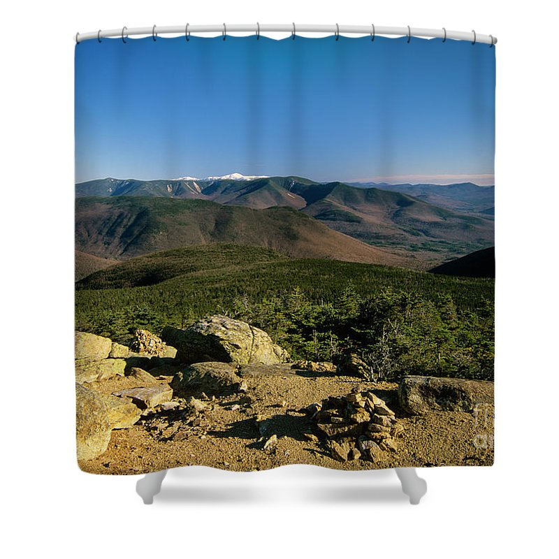 Adventure Shower Curtain featuring the photograph Owls Head - Pemigewasset Wilderness New Hampshire by Erin Paul Donovan