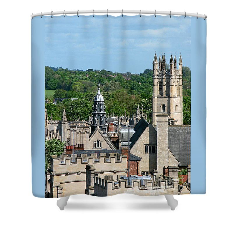 Oxford Shower Curtain featuring the photograph Oxford Tower View by Ann Horn