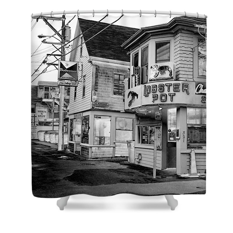 P-town Shower Curtain featuring the photograph P-town Lobster Pot by Nicole Dunkelberger