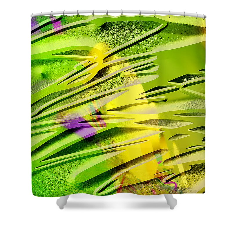 Scott Piers Shower Curtain featuring the painting P39b by Scott Piers