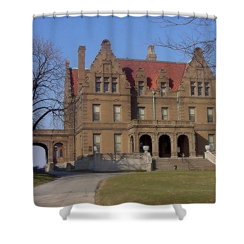 Pabst Mansion Shower Curtain featuring the photograph Pabst Mansion Photo by Anita Burgermeister