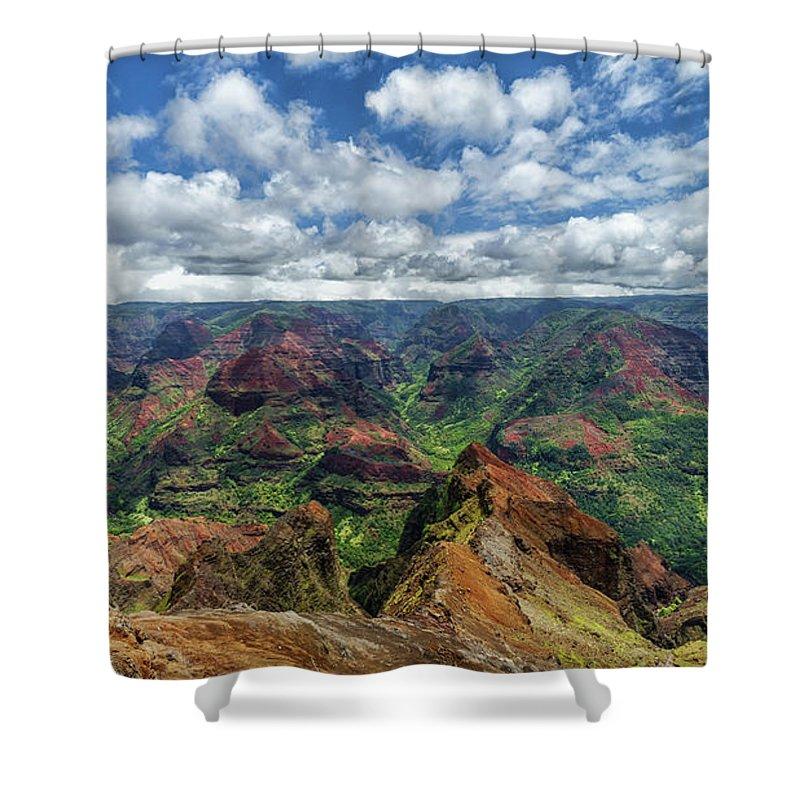 David Kulp Shower Curtain featuring the photograph Pacific Grand Canyon by David Kulp