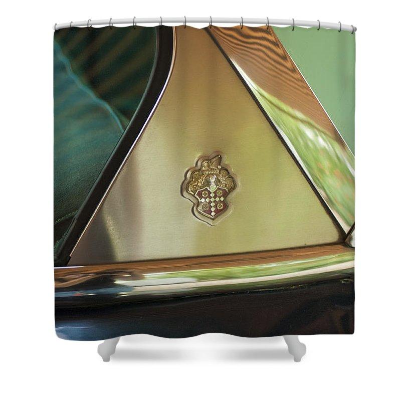 Packard Shower Curtain featuring the photograph Packard Emblem 2 by Jill Reger