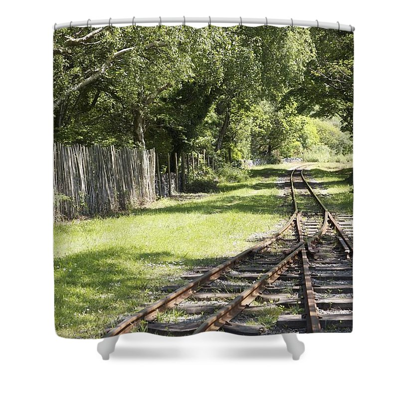Railways Shower Curtain featuring the photograph Padarn Lake Railway by Christopher Rowlands