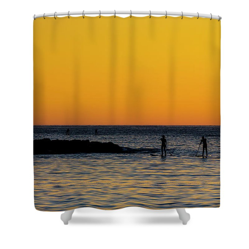 Stand Up Paddleboarding Shower Curtains Fine Art America