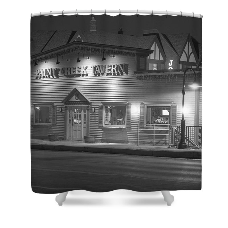 Paint Creek Shower Curtain featuring the photograph Paint Creek Tavern by Michael Peychich