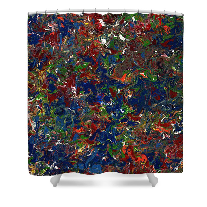 Abstract Shower Curtain featuring the painting Paint Number 1 by James W Johnson